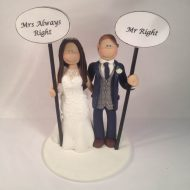 always-right-cake-topper