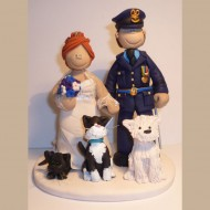 army-officer-with-dogs-cake-topper