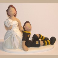 A Bride Dragging Her Rugby Fan Groom Down The Aisle