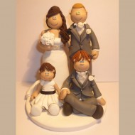 bride-groom-2-childen-sitting-cake-topper