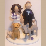 bride-groom-2-dogs-cake-topper