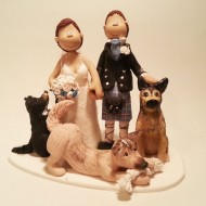 bride-groom-3-dogs-cake-topper