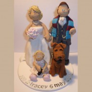 bride-groom-baby-with-dog-cake-topper