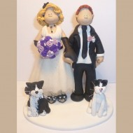 bride-groom-black-and-white-cats-cake-topper