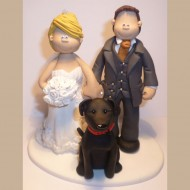 bride-groom-black-dog-cake-topper