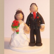 bride-groom-black-sparkly-waistcoat-cake-topper