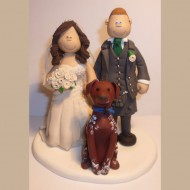 bride-groom-brown-dog-cake-topper