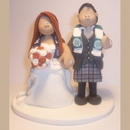bride-groom-celtic-scarf-cake-topper