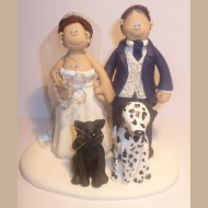 bride-groom-dalmation-dog-cake-topper