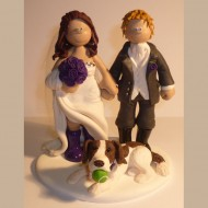 bride-groom-dog-with-ball-in-mouth-cake-topper