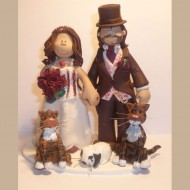 bride-groom-gerbil-2-cats-cake-topper