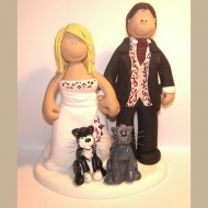 bride-groom-grey-and-black-cat-cake-topper