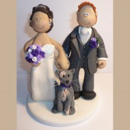 bride-groom-grey-cat-cake-topper