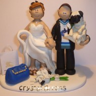 bride-groom-holding-pug-dog-cake-topper