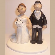 bride-groom-pinstripe-cake-topper
