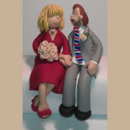 bride-groom-red-dress-cake-topper
