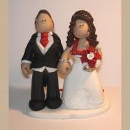 bride-groom-red-themed-cake-topper
