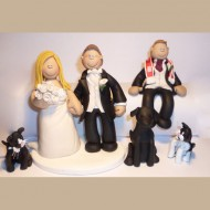 bride-groom-son-with-3-cats-cake-topper