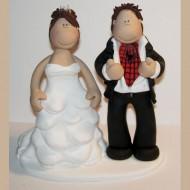 bride-groom-spiderman-under-shirt-cake-topper