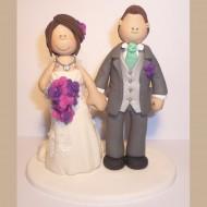bride-groom-teal-purple-cake-topper