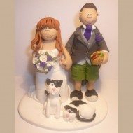 bride-groom-white-black-cats-cake-topper