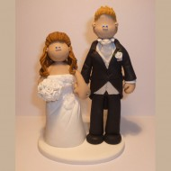 bride-tall-groom-cake-topper