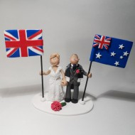 Wedding Cake Decorations Nz : Bride and Groom Wedding Cake Toppers Totally Toppers.com