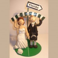 A Wedding Cake Topper For 2 Big Celtic FC Supporters