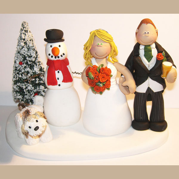 christmas wedding cake toppers themed wedding cake toppers totally toppers 12843