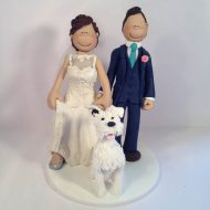 classy-wedding-cake-topper-with-dog