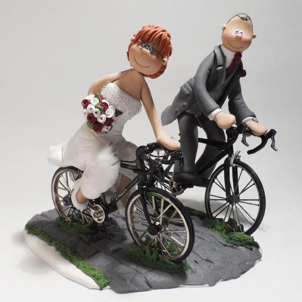 Bride And Groom On Bike Cake Topper