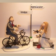 cycling-skiing-wedding-cake-topper