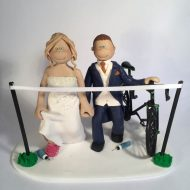 cyclist-wedding-couple-cake-topper
