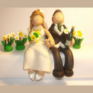 daffodils-wedding-cake-topper