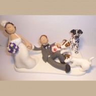 dogs-playing-with-groom-cake-topper