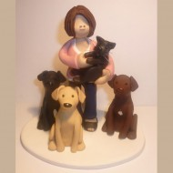 girl-with-dogs-and-cat-cake-topper