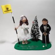 golfing-christmas-cake-topper