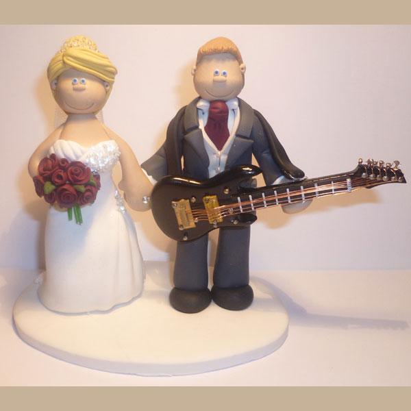 Guitar Player Wedding Cake Topper