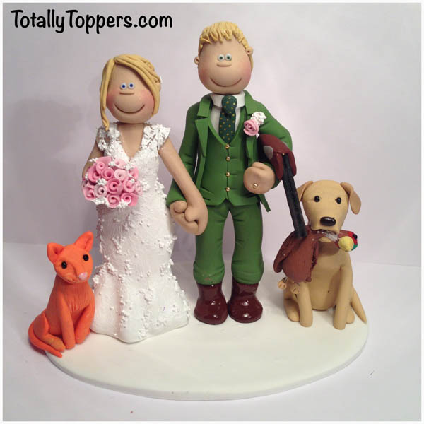 A Huntsman With His Dog And Bride Her Cat