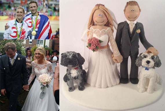 laura-trott-jason-kenny-wedding-cake-topper