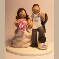 A Beautiful Bride With Her Groom Who Is Leeds United Fan