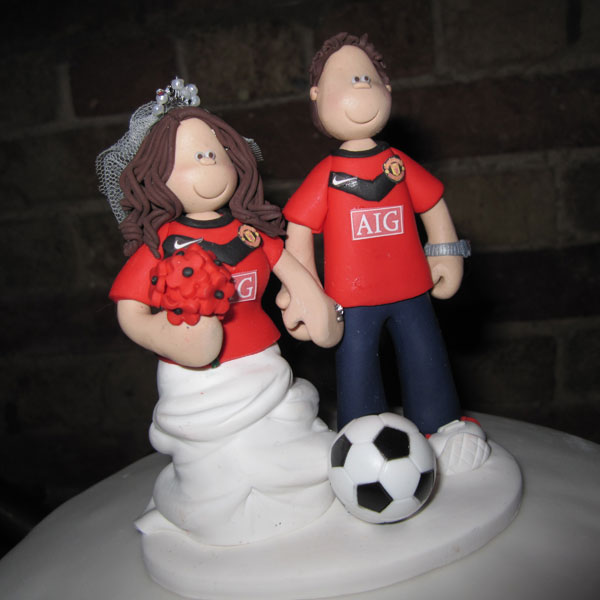 manchester united wedding cake wedding cake toppers on their cakes totally toppers 17096