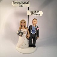 man city wedding cake toppers sport wedding cake toppers totallytoppers 17102