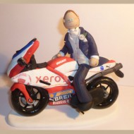 Motorbike Wedding Cake Topper A Groom Going Out For Ride On His Ducati