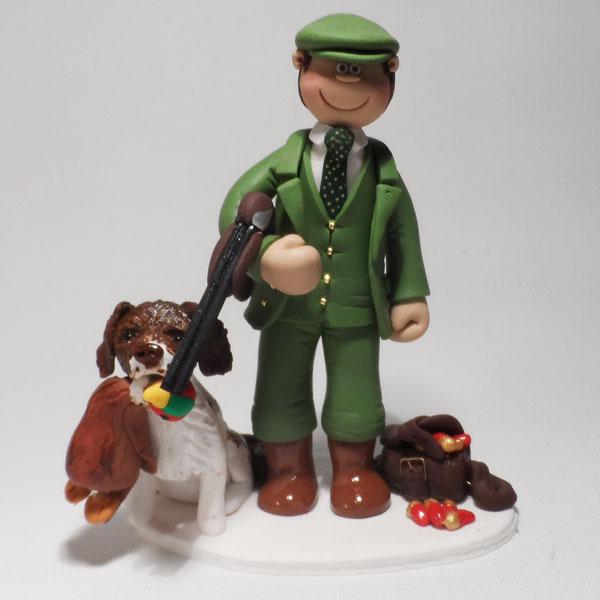 Pheasant Shooting Cake Topper