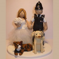 police-cake-topper-with dogs