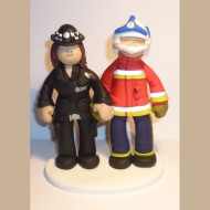 police-firefighter-cake-topper