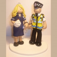 police officer and nurse wedding cake topper employment cake toppers totally toppers 18671