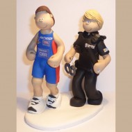 police-running-cake-topper