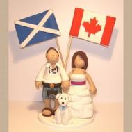 scotland-canada-wedding-cake-topper